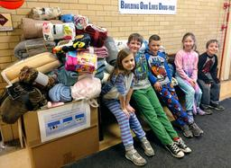 Elementary Hold Successful Blanket Drive