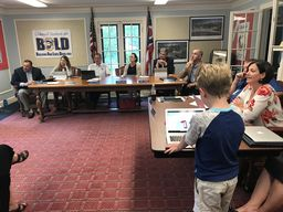Harman Students Present 3D Projects to BOE