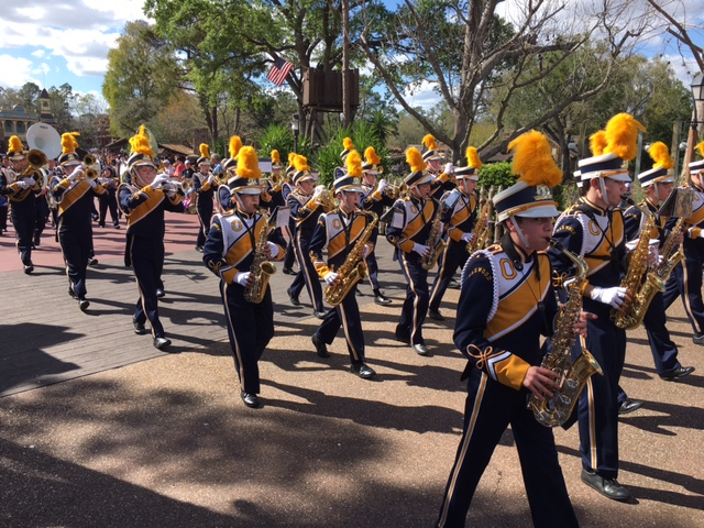 Marching at Disney World