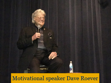 Dave Roever speaks to junior and senior high students