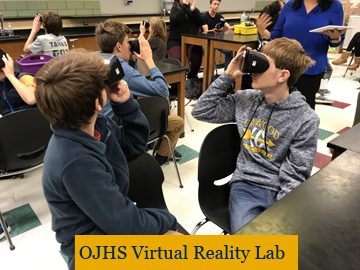 OJHS students participate in activity with virtual goggles