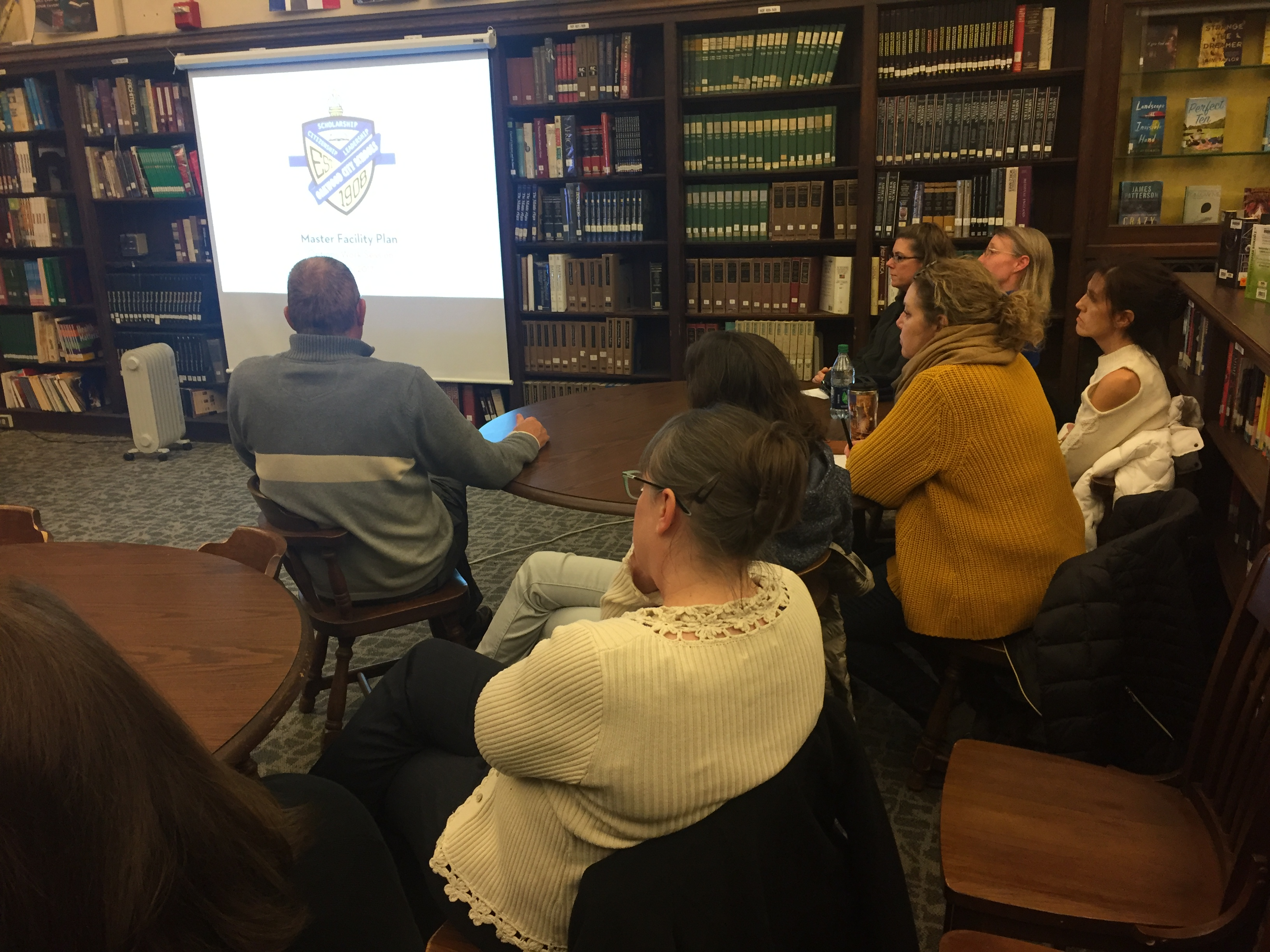 Members of Arts Bridge and OBPA attend Options Workshop in the OHS library