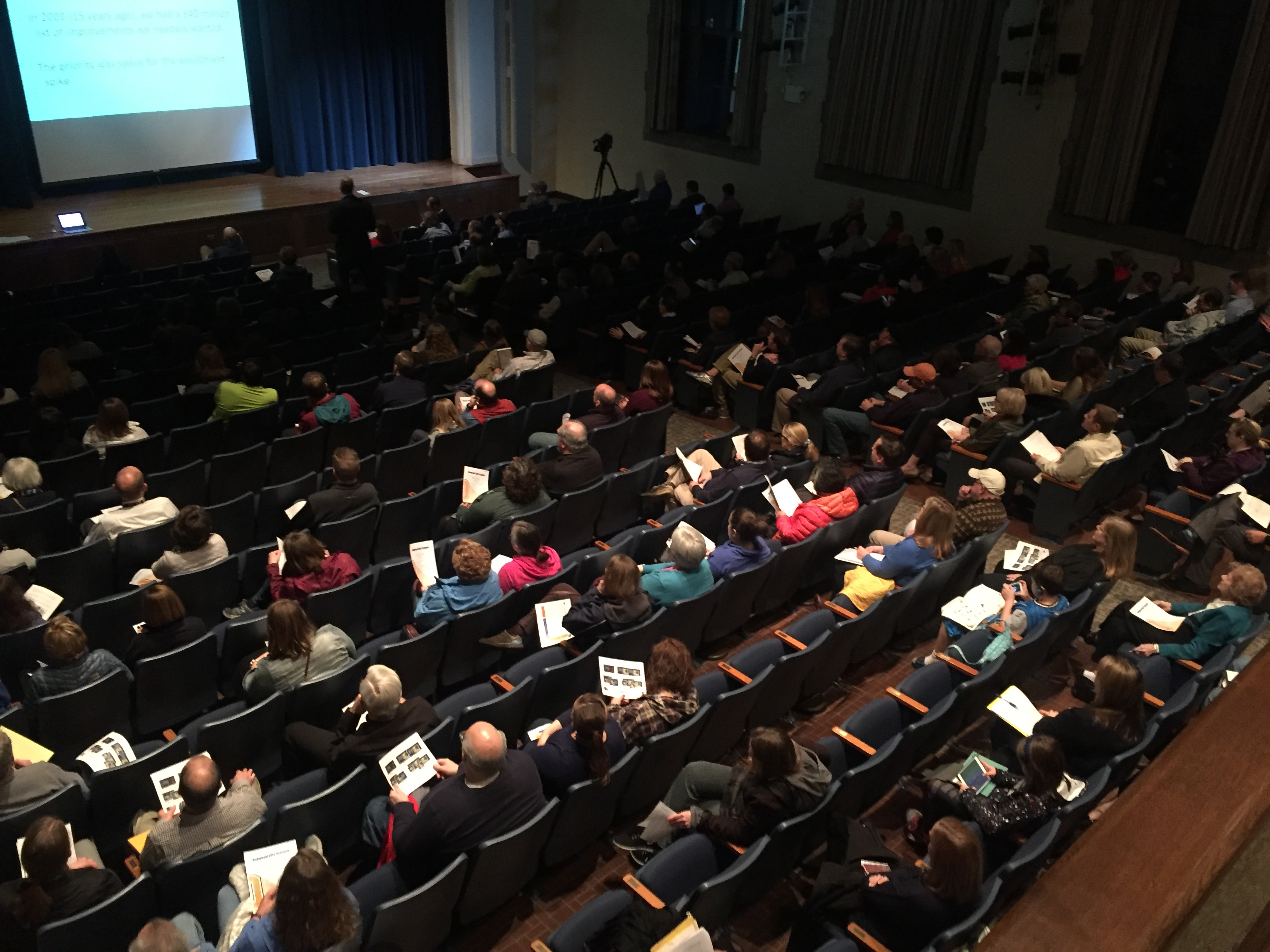Nearly 200 people attended Community Meeting #3 in the OHS auditorium