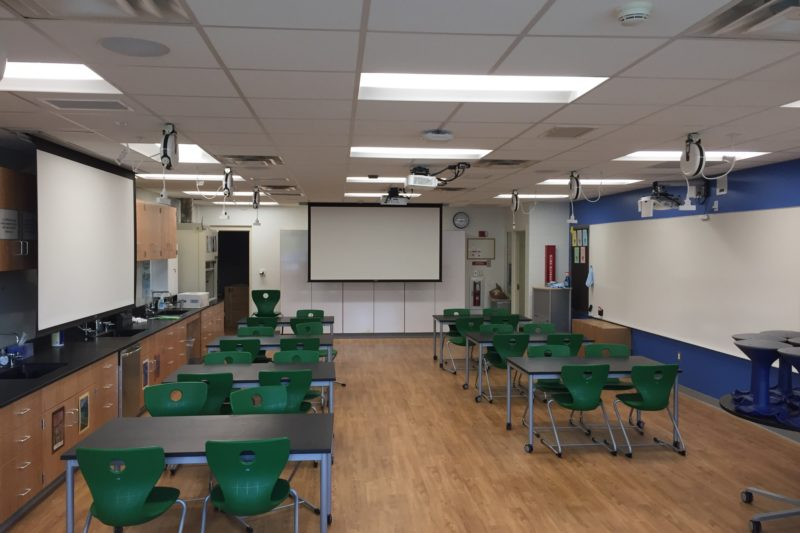 Modern learning spaces in the classroom