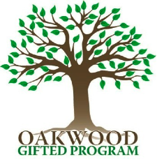 Oakwood Gifted Program logo of Oak tree